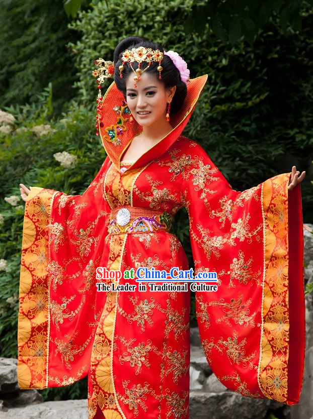 High Collar Ancient Chinese Empress Costume for Women