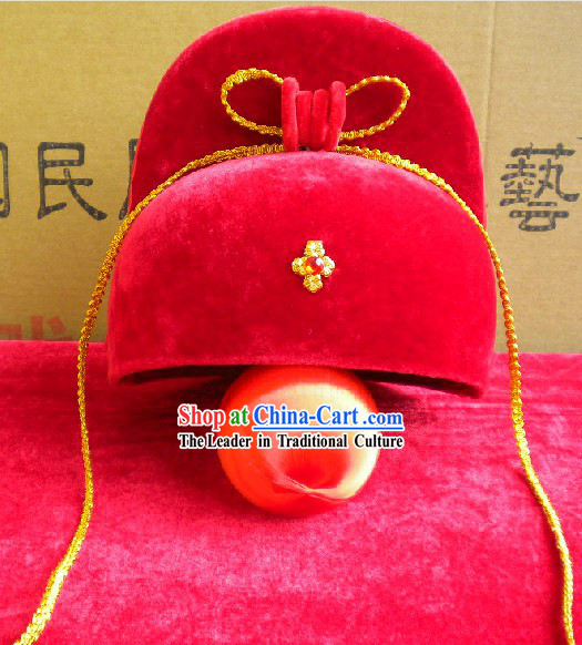 Chinese Classic Bridegroom Wedding Hat for Men