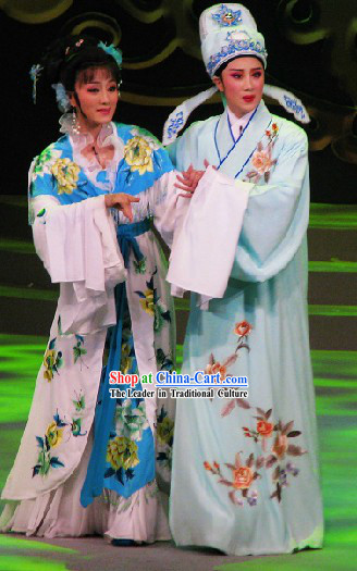 Long Sleeve Shanghai Shaosing Opera Embroidered Costumes for Men