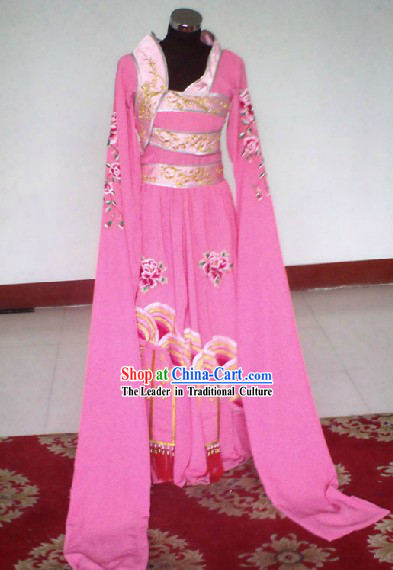 Chinese Stage Performance Dramatic Pink Empress Costumes Complete Set