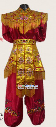 Traditional Chinese Drum Player Costume for Women