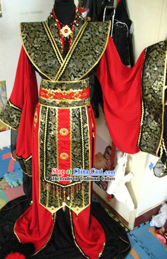 Ancient Chinese Palace Emperor Costume and Headpiece