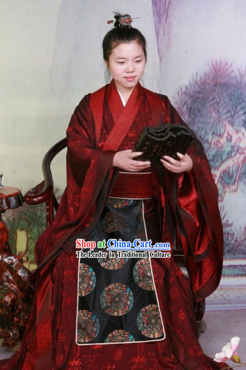 Ancient Han Dynasty  Emperor Wu Di Costumes or Confucius Costumes
