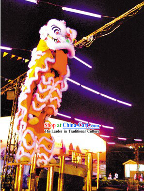 Top Competition and Parade Luminous Lion Dance Costumes Complete Set