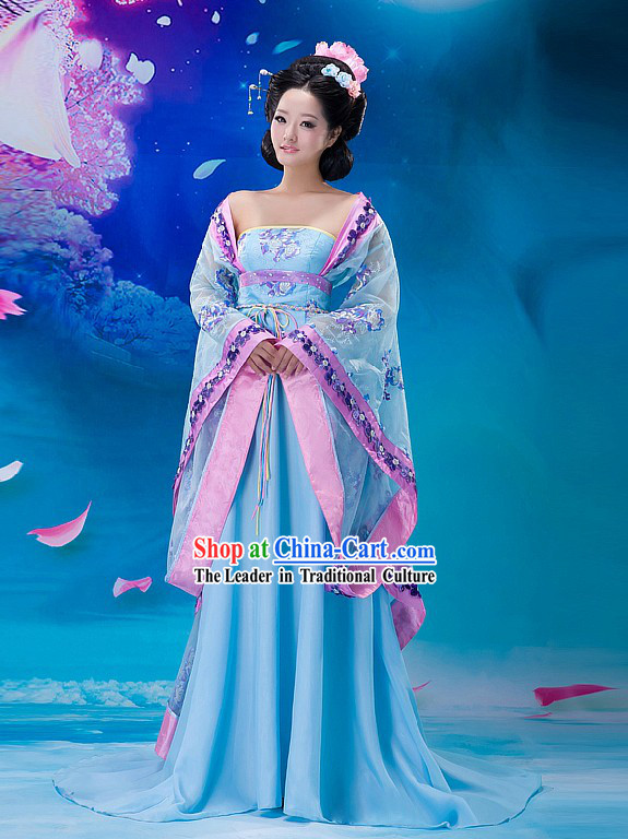 Traditional Chinese Tang Dynasty Women Garment Complete Set