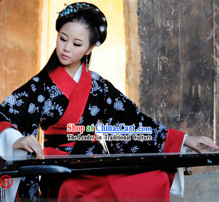 Han Dynasty Princess Quju Three Pieces Clothing Complete Set