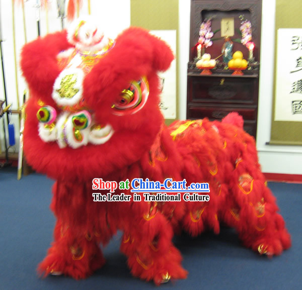 Dragon Phoenix Happy Wedding and Business Opening Celebrations Lion Dance Costumes Complete Set
