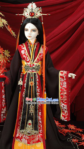Ancient Chinese Imperial Emperor Costumes and Crown Complete Set