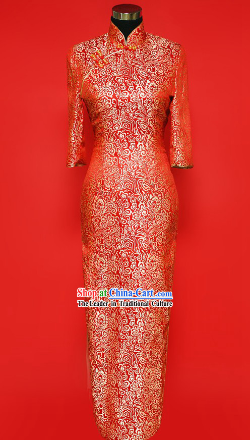 Chinese-style Cheongsam Dress for Brides