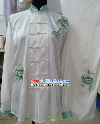White Silk Martial Arts Clothing for Women