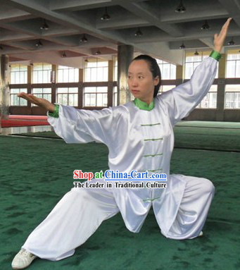 White Kung Fu Tournament Competition Clothing for Women