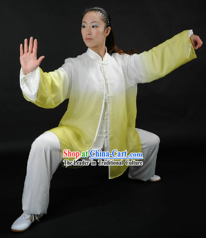 Color Transition Tai Chi Competition Uniform for Men or Women