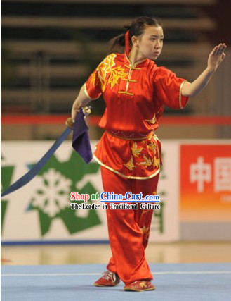Chinese Tai Chi Competition Silk Uniforms for Women