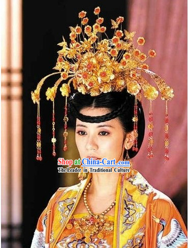 Ancient Chinese Tang Dynasty Queen Wu Zetian Hair Accessories