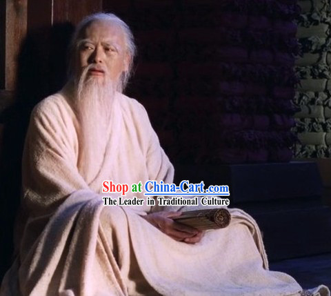 Eastern Zhou Dynasty Spring and Autumn Ancient Chinese Kong Zi Confucius Wise Man Costumes