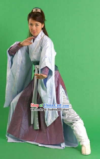 Ancient Chinese Knight Woman Costumes Complete Set