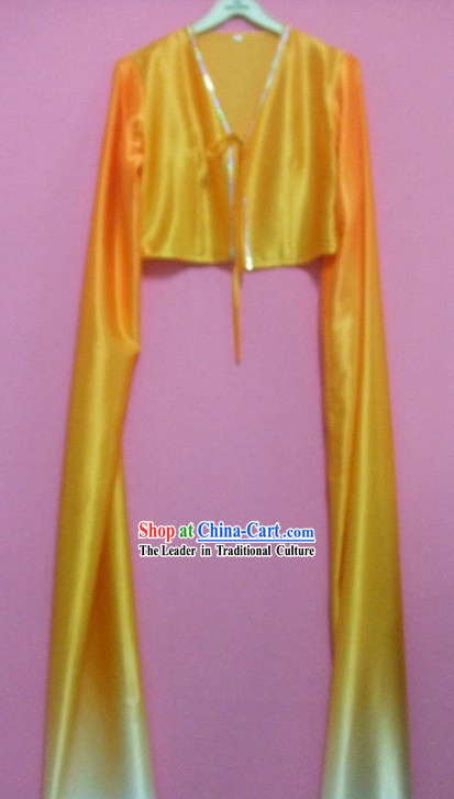 Yellow Gradual Change Water Sleeve Dance Costumes