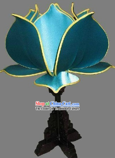 Traditional Chinese Palace Lotus Shape Desk Lamp