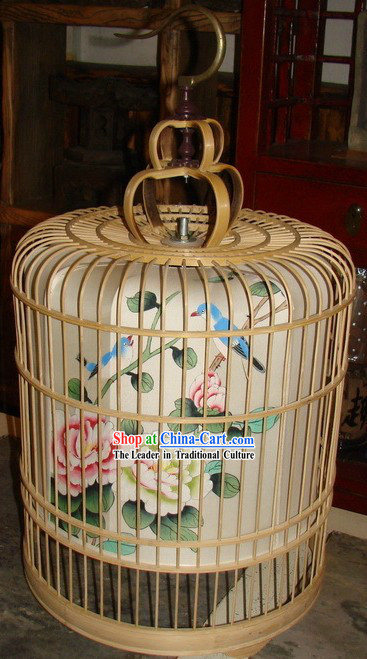 Chinese Classic Handmade and Painted Birdcage Hanging Palace Lantern