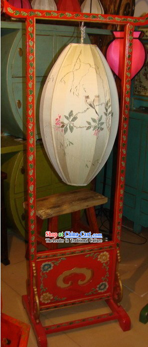 Chinese Classic Handmade and Painted Wooden Palace Floor Lantern