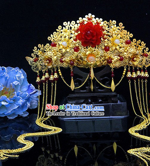 Traditional Chinese Lucky Wedding Phoenix Coronet for Brides