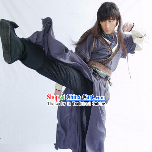 Ancient Chinese Swordsman Knight Costumes Complete Set