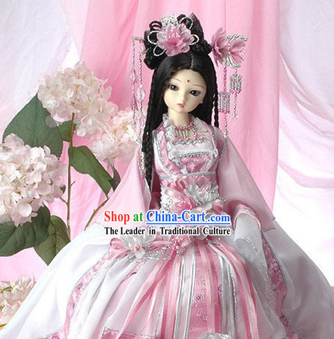 Ancient Chinese Pink Princess Clothing and Accessories