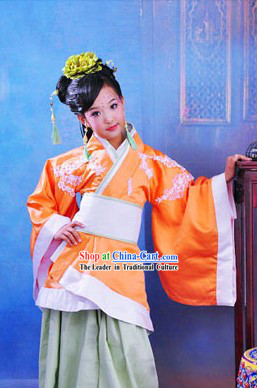 Traditional Chinese Han Fu Clothing Complete Set for Kids
