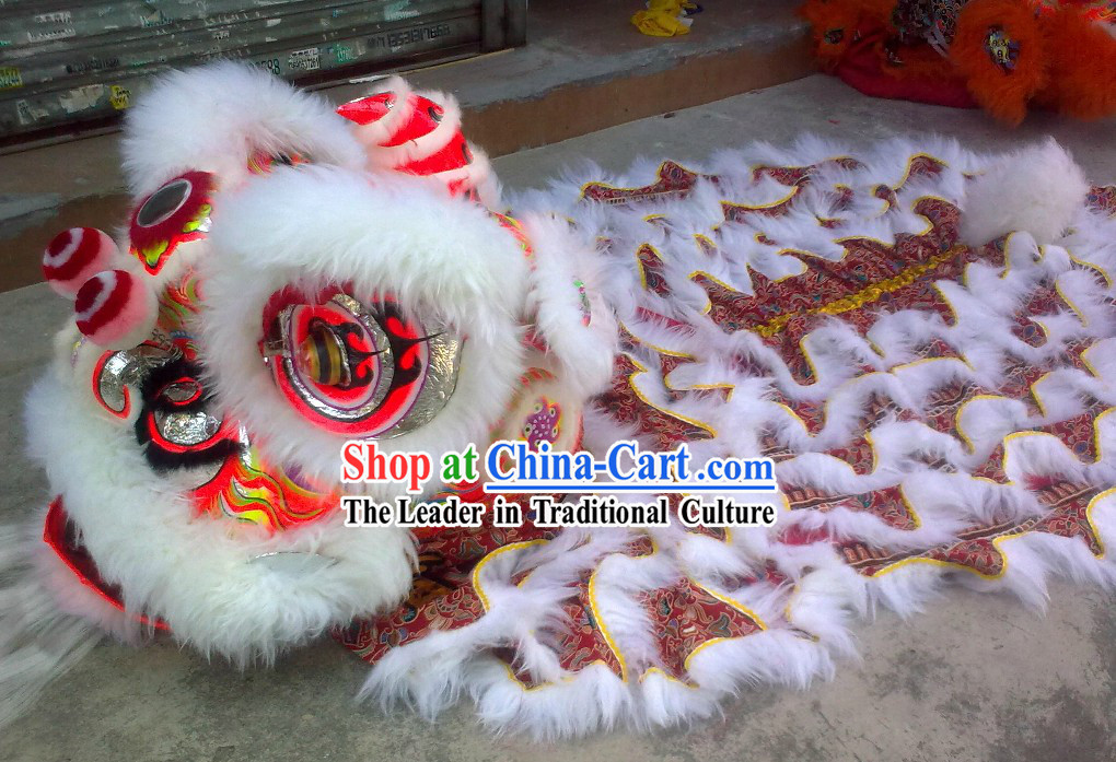 Supreme Chinese Southern FUT SAN Lion Dancing Costumes Complete Set
