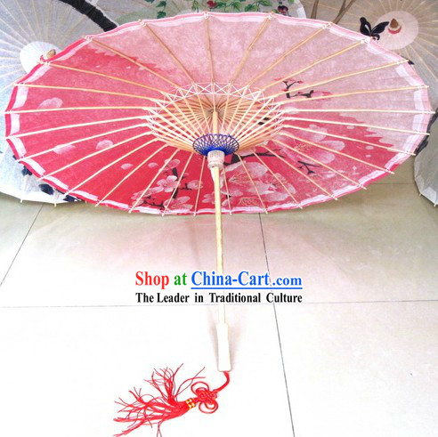 Traditional Chinese Handmade Peach Flower Umbrella