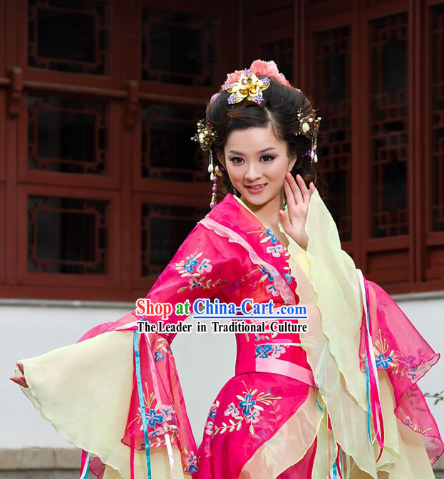 Ancient Chinese Palace Empress Costume Complete Set for Women