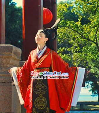 Ancient Chinese Palace Empress Lucky Red Wedding Dress