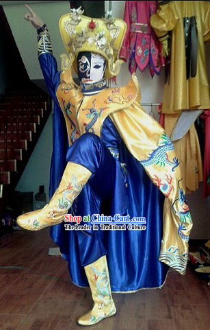 Chinese Mask Changing Dress Hat Boots Masks Complet Set