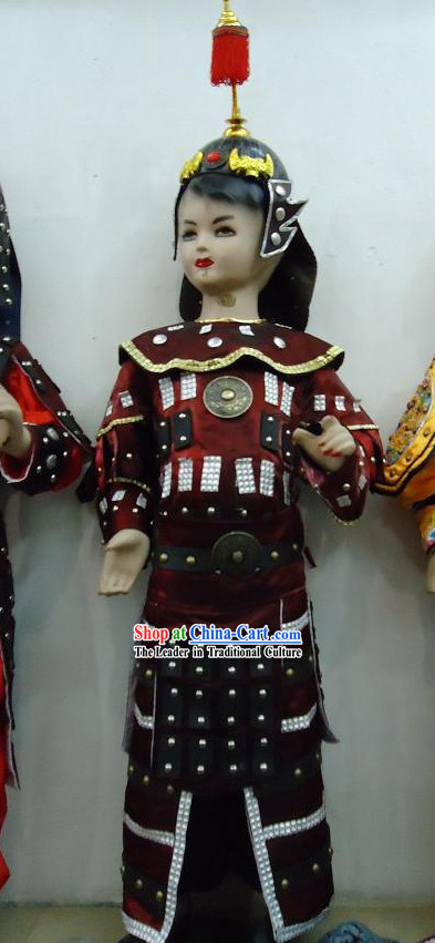 Ancient Chinese General Armor Costume for Kids