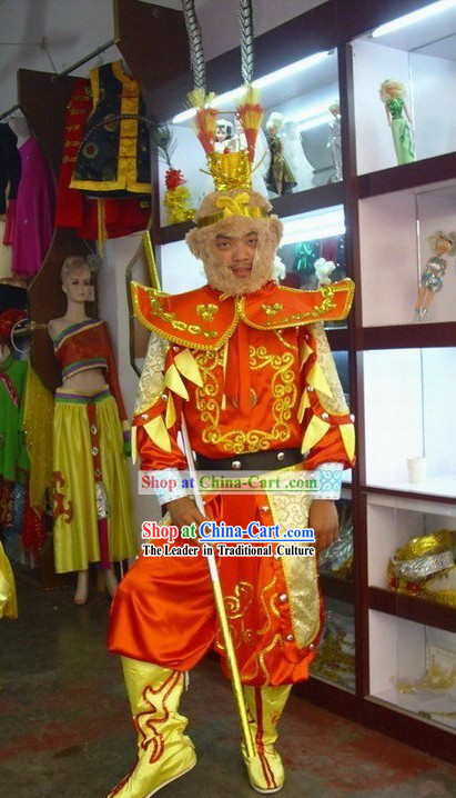 Traditional Chinese Sun Wukong (Monkey King of Journey to the West) Costumes Complete Set