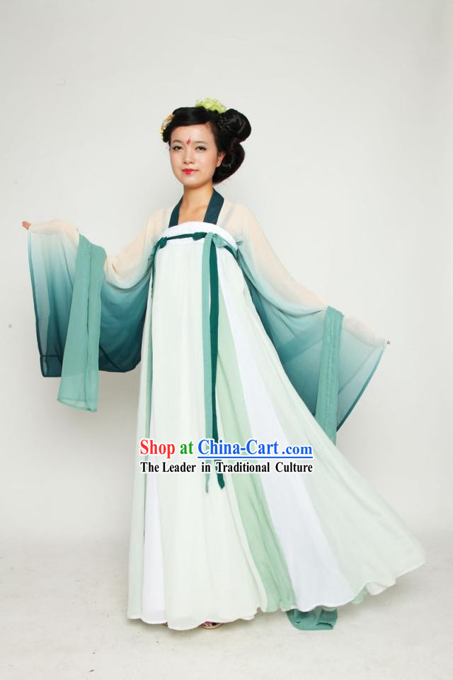 Ancient Chinese Tang Dynasty Female Clothing Complete Set