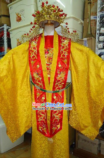 Chinese Ming Dynasty Empress Costumes and Phoenix Crown Complete Set