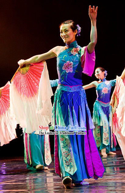Beautiful Scenery Xiu Se Chinese Classical Fan Dance Costume