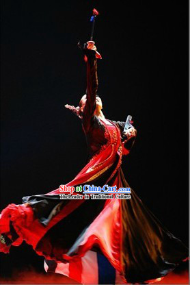 Traditional Chinese Korean Folk Dance Costumes for Women