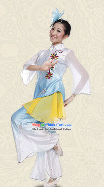 Chinese Traditional Dance Costume and Headwear for Women