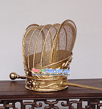Ancient Chinese Qin and Han Dynasty Golden Coronet