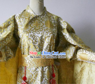 Ancient Chinese Ming Dynasty Guard Costumes and Mantle Complete Set for Men