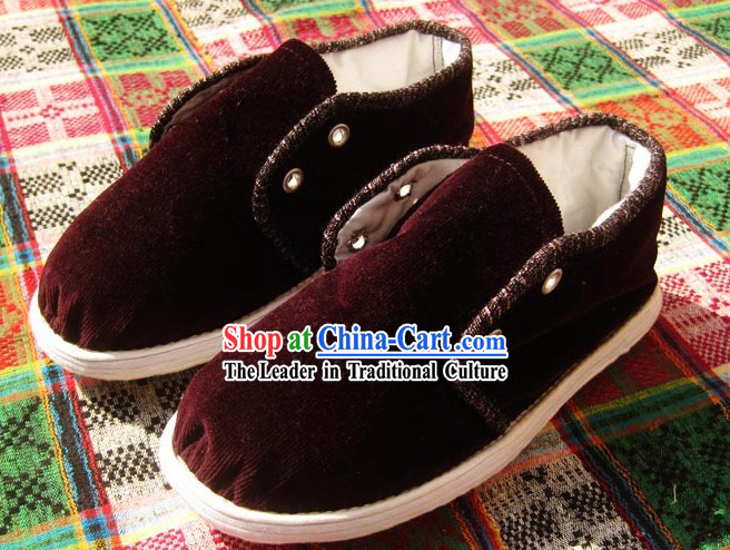 Old China Time All Handmade Chinese Thick Sole Cotton Boots