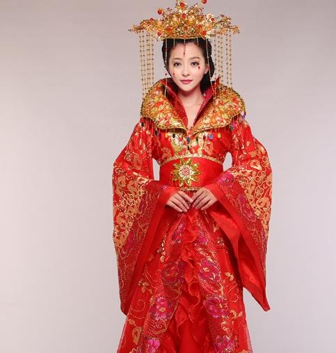 Chinese Classical Embroidered Phoenix Empress Costumes Complete Set for Women