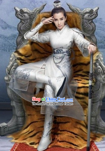 Ancient Chinese Swordsman Prince Costumes Complete Set for Men