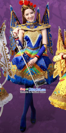 2013 New Style Peking Opera Type Stage Performance Dance Costumes and Headgear for Women