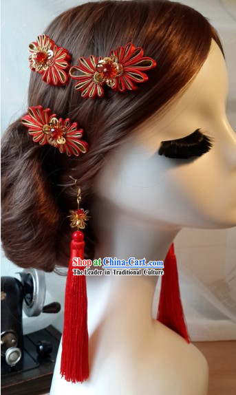 Traditional Chinese Wedding Ceremony Brides Headwear Complete Set