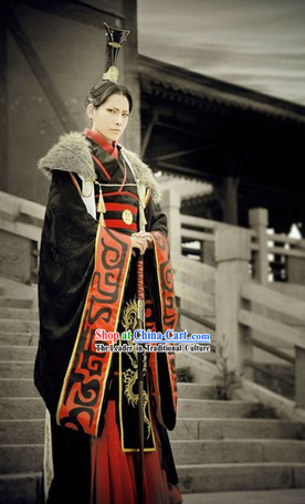 Ancient China Prince Costumes and Hat Complete Set for Men