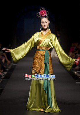 Traditional Chinese Oriental Clothing Complete Set for Women