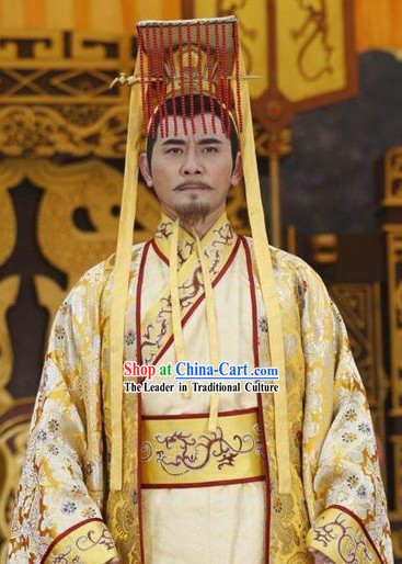 Li Shimin Tang Dynasty Emperor Costumes and Hat for Men